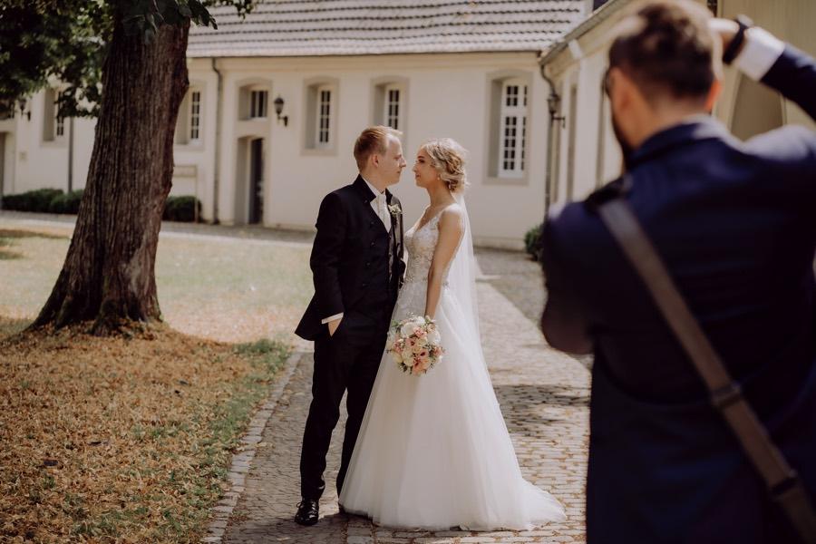 Making of Bild einer Hochzeitsreportage von foto kleer