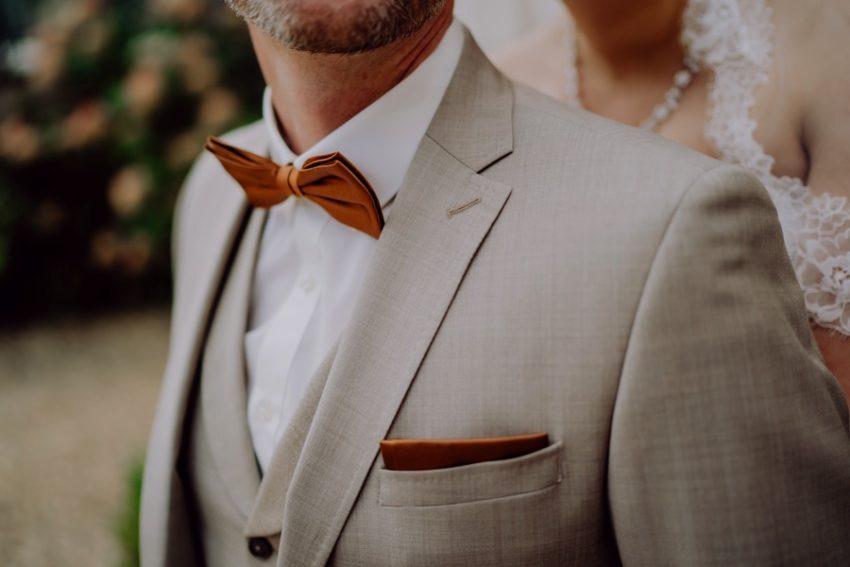 Bräutigam, Fliege , Anzug, Detail Hochzeitsanzug, Hochzeit, Foto Kleer